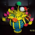 Memories from the past: Making a Flower Vase using plastic wires! - Part 3