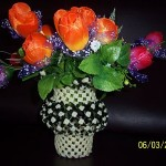 Memories from the past: Making a Flower Vase using Plastic Wires! - Part 4