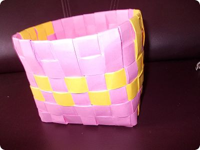 How To Weave A Paper Basket Craft Works School Projects Nature