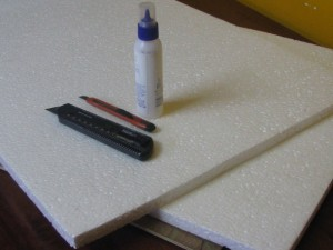 Materials required for making a Thermocol House