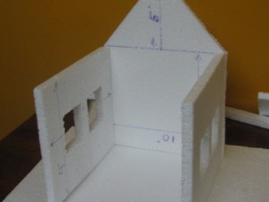 How to make a Thermocol House Model? – Model 1 – Craft Works ...