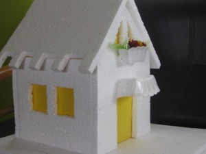 Make model house using thermocol