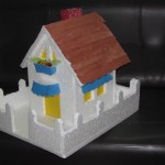 Thermocol House with paper roof - Model 2