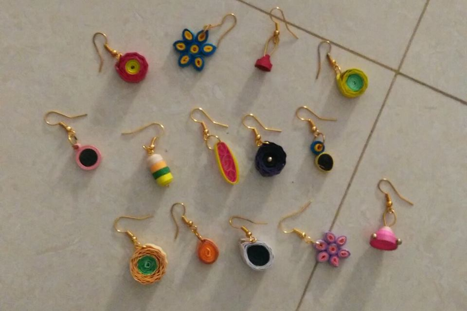 Quilled Earrings Melindajanice Com